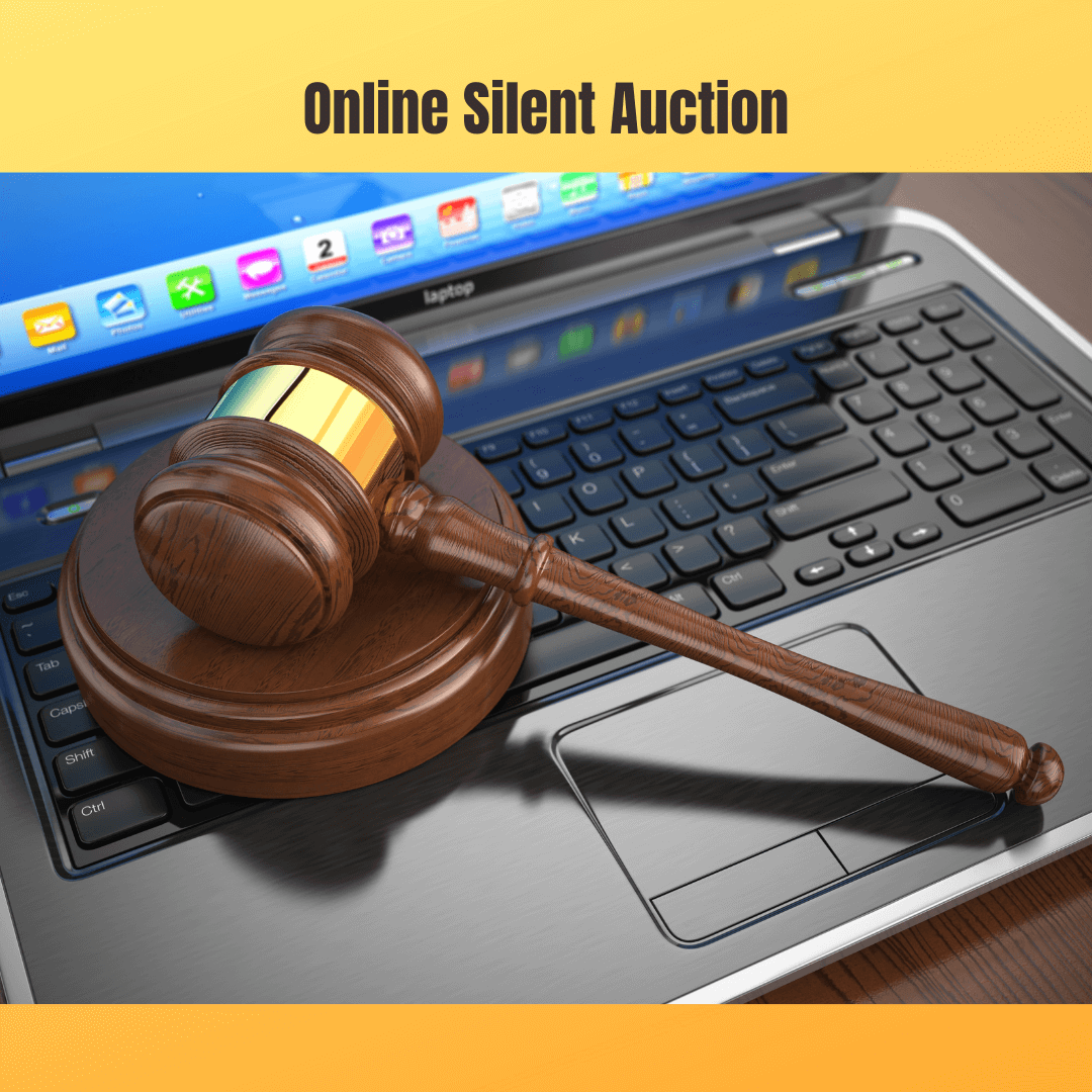 image of auction gavel on computer